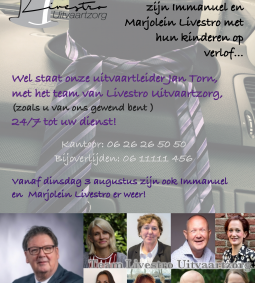 Immanuel en Marjolein Livestro op zomerverlof, maar Jan Torn wel beschikbaar!